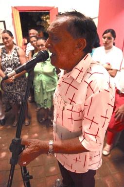 Zé de Elóia, cantador de cântigo religioso da Paróquia de Nova Olinda / Foto: Helio Filho